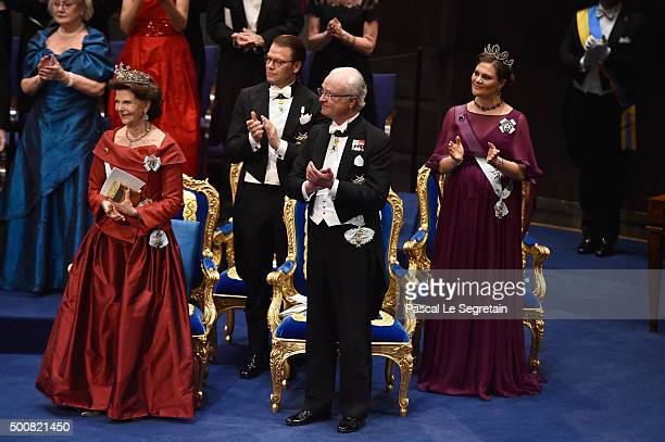 Queen Silvia of SwedenPrince Daniel of SwedenKing Carl XVI Gustaf of Sweden and Crown Princess Victoria of Sweden attend the Nobel Prize Awards...
