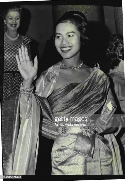 Queen Sirikit leaves state dinner at Australia last night