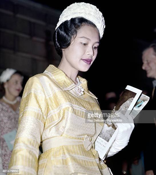 Queen Sirikit of Thailand at Burlington House London during a State Visit circa 1960