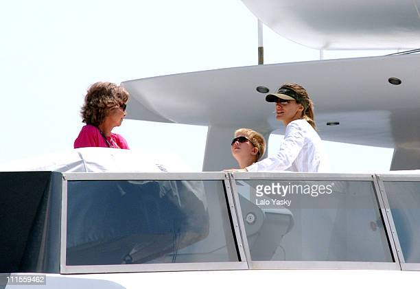 Queen Sofia and her daughterinlaw Princess Letizia with grandson Miguel Urdangarin