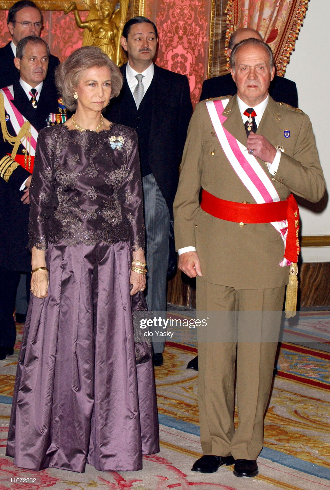 Spanish Royals Celebrates Militar Pasques With Gala Reception at The Royal Palace in Madrid : News Photo
