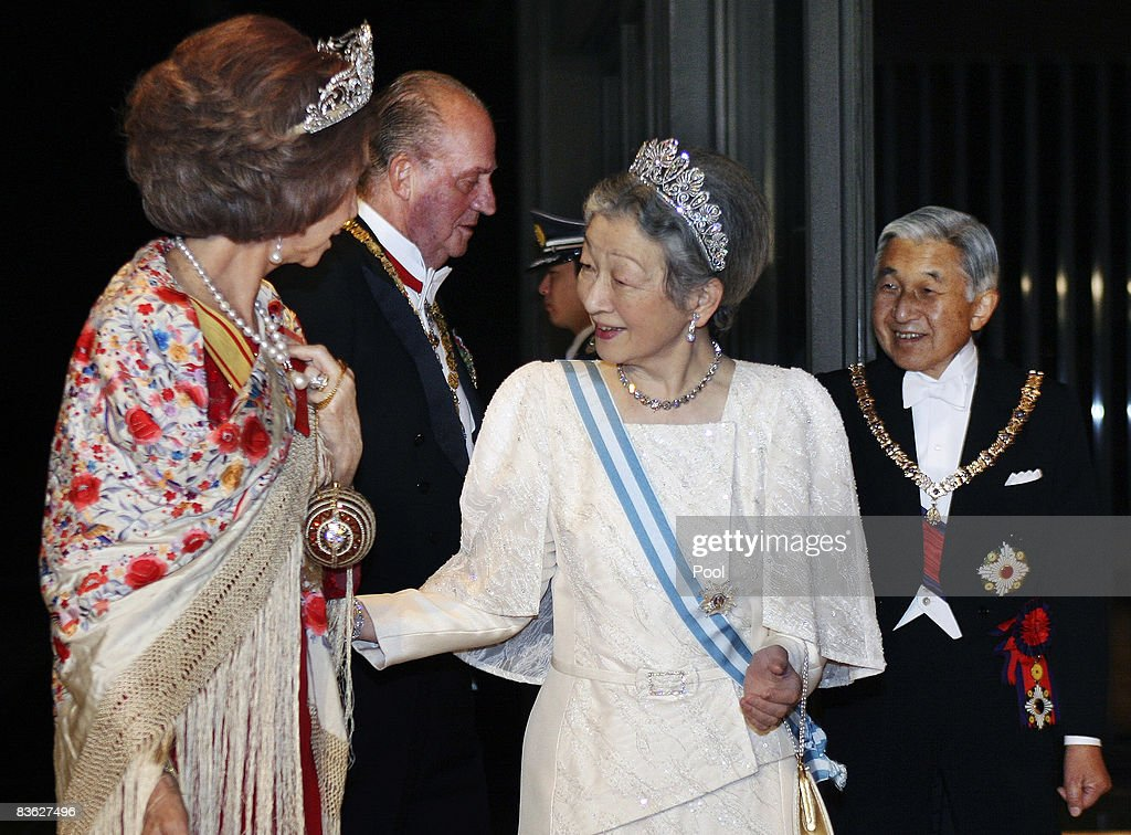 King Juan Carlos And Queen Sofia Of Spain Visit Japan - Day 2 : News Photo