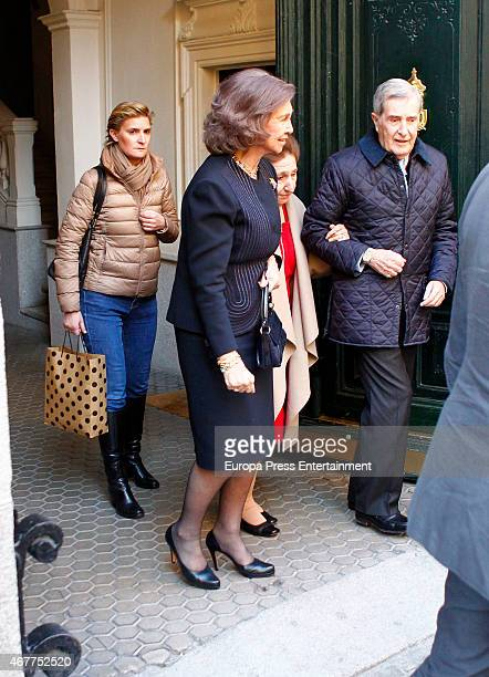 Queen Sofia and Maria Zurita attend Princess Margarita's 76th birthday on March 06 2015 in Madrid Spain