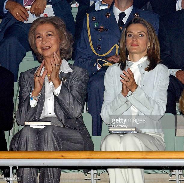 Queen Sofia and Princess Letizia during Spanish Royals Attend 'Me Olvide de Vivir' Gala in Favor of the Queen Sofia Foundation at Vista Alegre Palace...