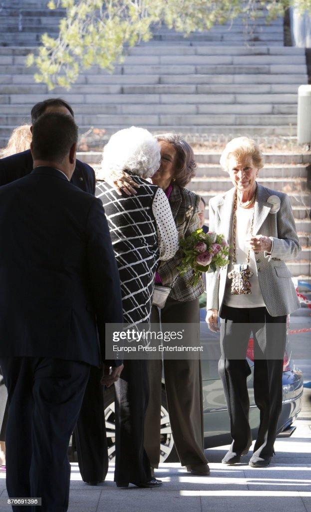Queen Sofia (2R) and Princess Pilar (3R) attend the charity market 'Rastrillo Nuevo Futuro' on November 20, 2017 in Madrid, Spain.