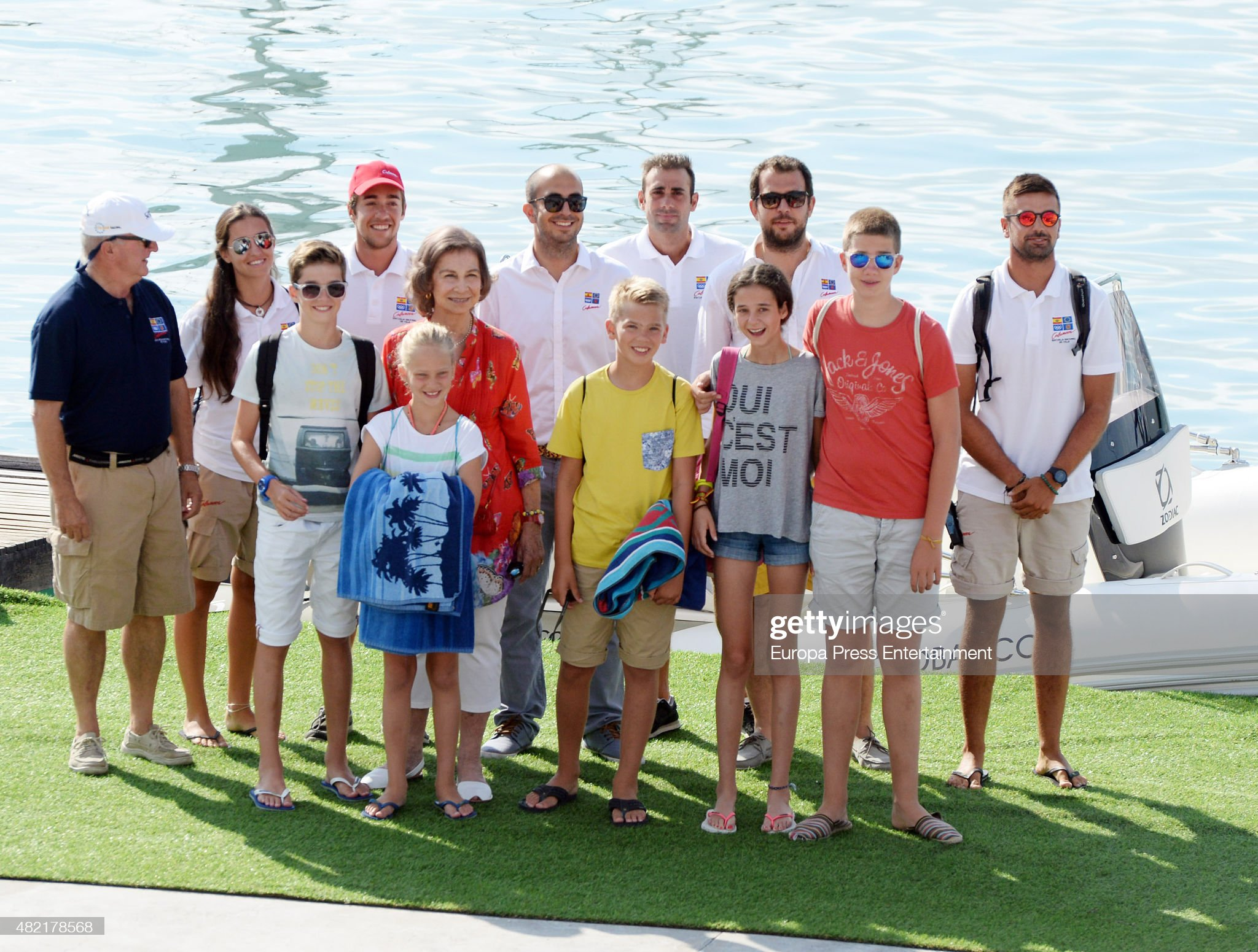 Spanish Royals At The Calanova Nautic Club In Mallorca - July 27, 2015 : Photo d'actualité