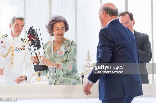 Magdalena Valerio Queen Sofia and Princess Elena of Spain attend Mapfre Foundation Awards 2017 at Casino de Madrid on June 14 2018 in Madrid Spain