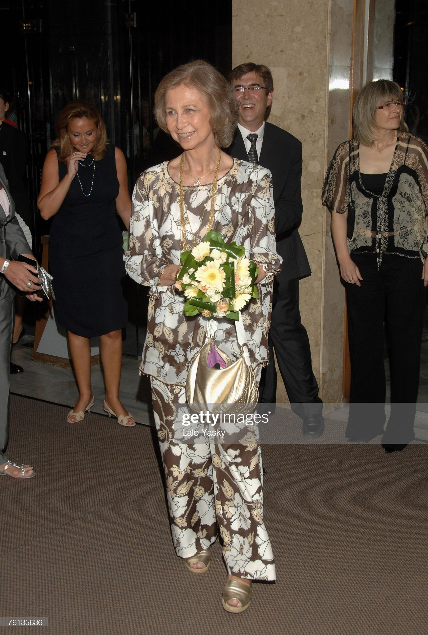 Queen Sofia Attends Benefit Ballet in Mallorca : News Photo