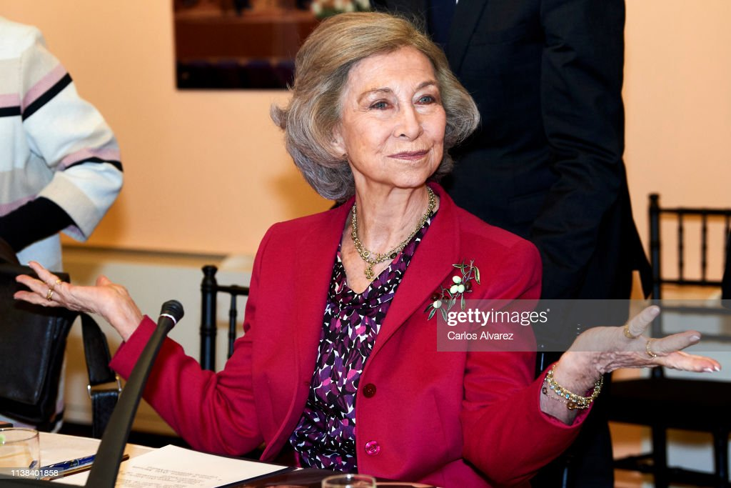 ESP: Queen Sofia Attends A Meeting With Board Of 'Reina Sofia' School Of Music