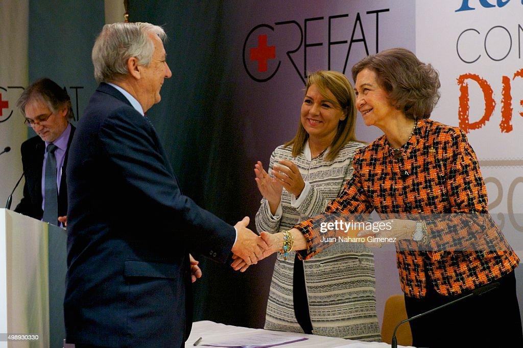 Queen Sofia attends CREFAT Foundation Awards 2015 at Cruz Roja building on November 27, 2015 in Madrid, Spain.