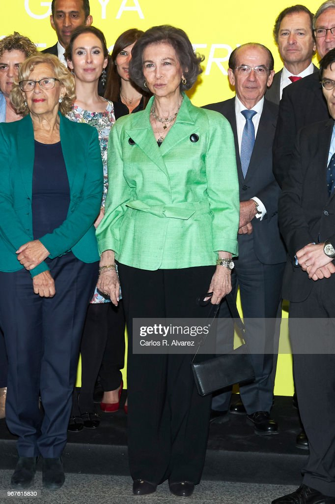 Queen Sofia attends 'Fundacion ONCE' Contemporary Art Biennale exhibition at Cibeles Palace on June 5, 2018 in Madrid, Spain.