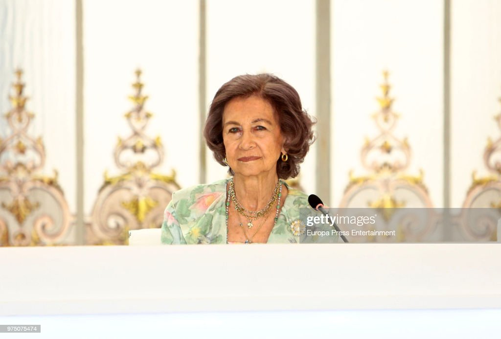 Queen Sofia attends Mapfre Foundation Awards 2017 at Casino de Madrid on June 14, 2018 in Madrid, Spain.