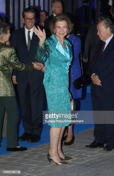 Queen Sofia attends the 33th edition of BMW Painting Award at the Royal Theatre on October 24 2018 in Madrid Spain