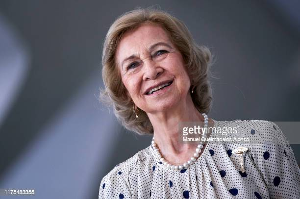 Queen Sofia attends the Acts for the 7th International Congress Of Research And Innovation In Neurodegenerative Diseases at Museo de Las Ciencias...