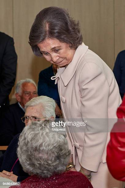 Queen Sofia attends The Centenary of 'Padre Rubinos' Royal Charity Institution on April 19 2018 in A Coruna Spain