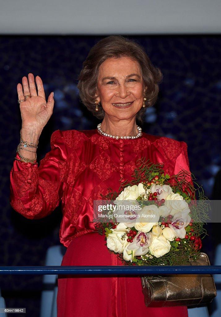 Queen Sofia Attends 'La Traviata' Opera in Valencia