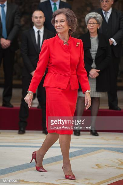 Queen Sofia attends the National Sports Awards 2015 at the El Pardo Palace on January 23 2017 in Madrid Spain