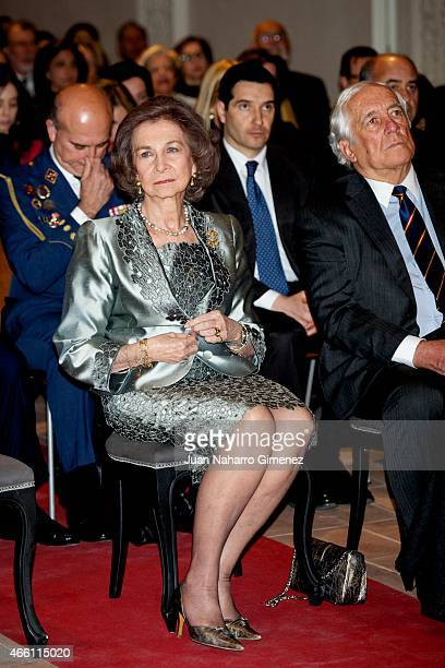 Queen Sofia attends the opening concert of the II series 'Chamber Music in the World Heritage Cities' in the Chapel of San Ildefonso on March 13 2015...