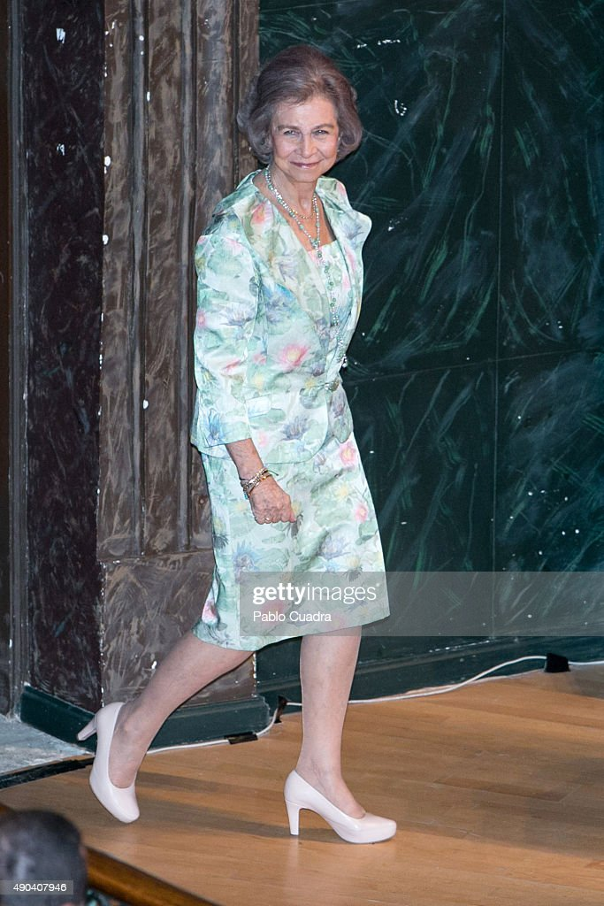 Queen Sofia attends the opening of '2015 Human Brain Project (HBP) Annual Meeting' at Colegio Oficial de Medicos headquarters on September 28, 2015 in Madrid, Spain.