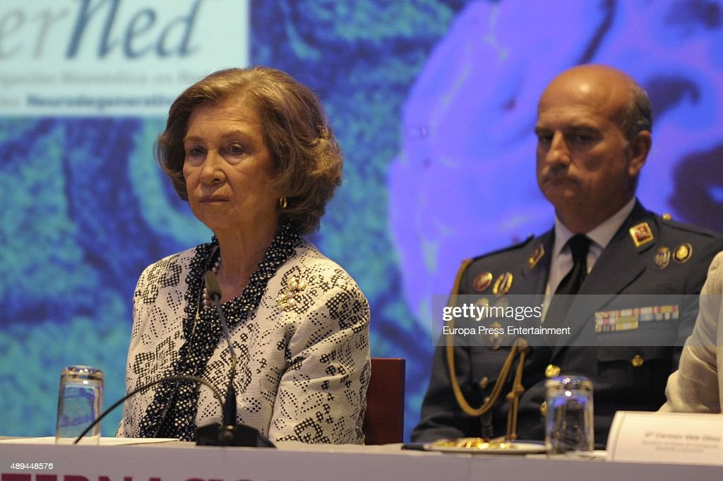Queen Sofia attends the opening of the III International Congress on Research and Innovation In Neurodegenerative Diseases on September 21, 2015 in Malaga, Spain.