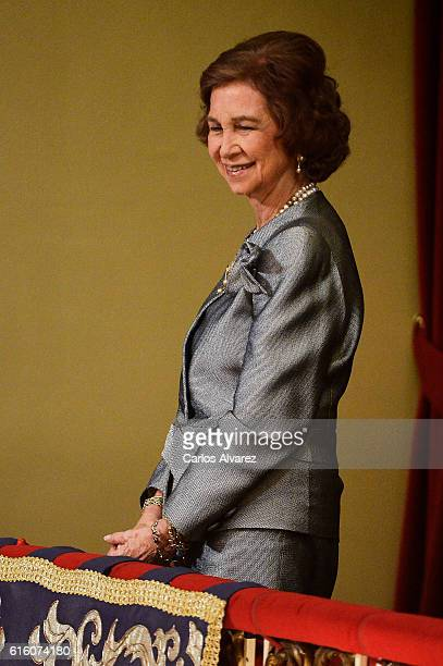 Queen Sofia attends the Princesa de Asturias Awards 2016 ceremony at the Campoamor Theater on October 21 2016 in Oviedo Spain