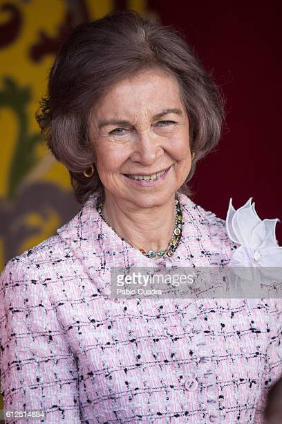 Queen Sofia attends the Red Cross Fundraising day event on October 5 2016 in Madrid Spain