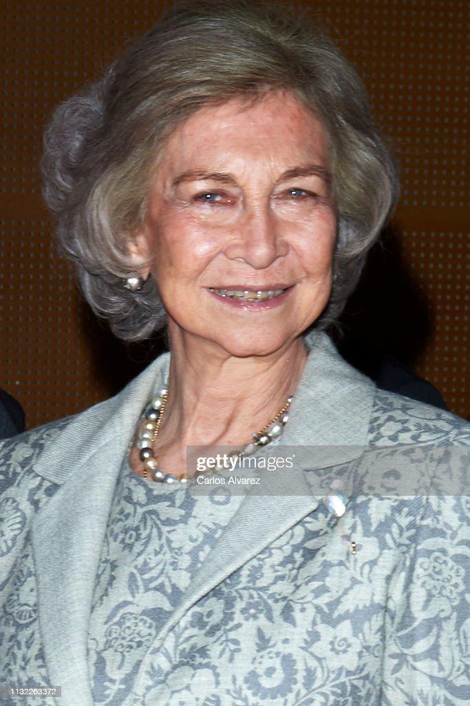 Queen Sofia Delivers Reina Sofia Foundation Scholaships To Investigate Alzheimer : News Photo