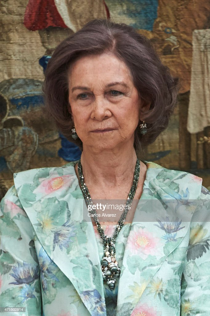 Queen Sofia attends the 'Royal Trust Disability Reina Sofia 2014 Awards' at the El Pardo Palace on April 29, 2015 in Madrid, Spain.