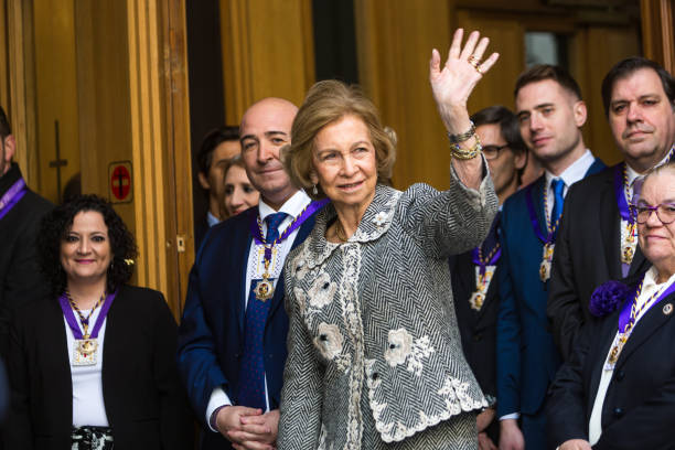 ESP: Queen Sofia Attends The Traditional Thanksgiving To Medinaceli'