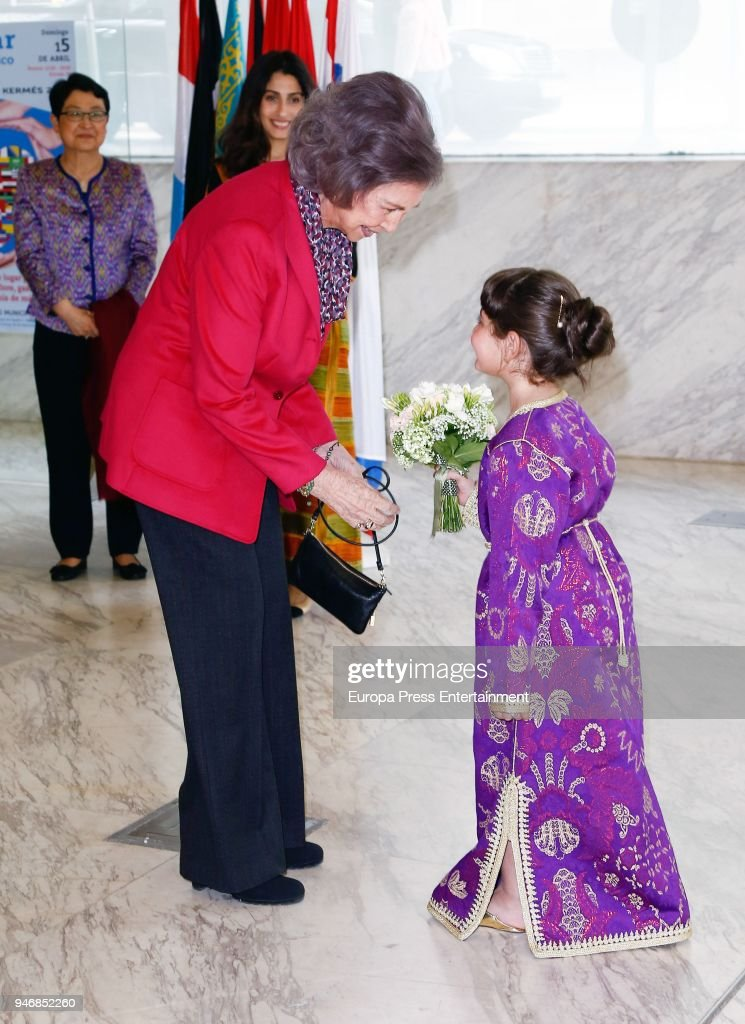 Queen Sofia Attends XXIII Charity Diplomatic Bazaar