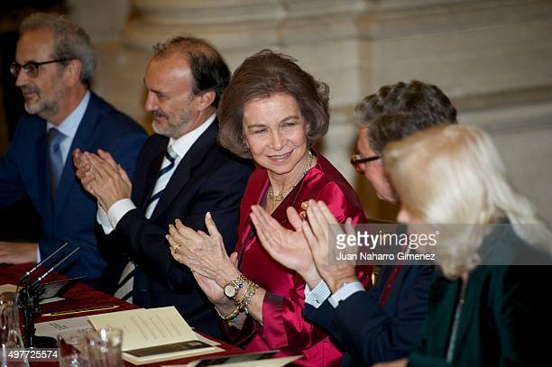 Queen Sofia attends 'XXIV Reina Sofia Iberoamerican Poetry Award' at Royal Palace on November 18 2015 in Madrid Spain