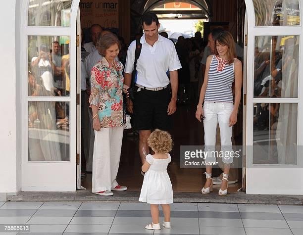 Queen Sofia Crown Prince Felipe Princess Letizia and Princess Leonor attend the 26th Copa del Rey Sailing Trophy on July 30 2007 in Mallorca Spain