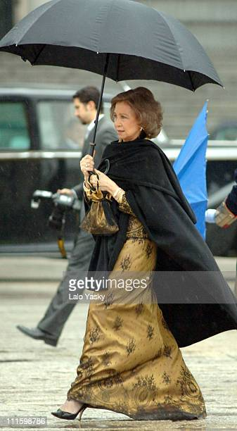 Queen Sofia during Epiphany Day Royal Reception January 6 2006 at Royal Palace in Madrid Spain