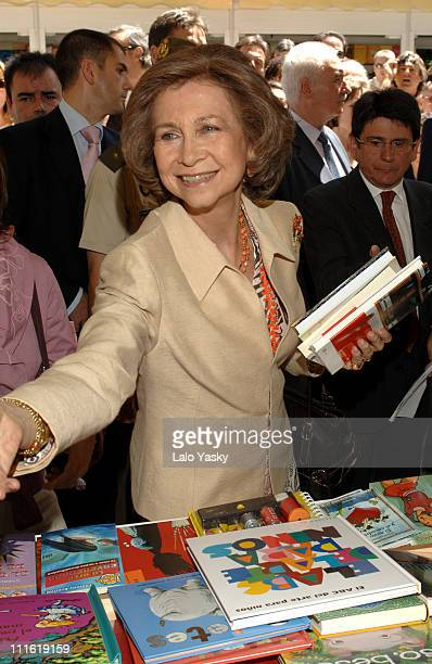Queen Sofia during Queen Sofia Presides the Opening of 2006 Book Fair at Parque del Retiro in Madrid Spain