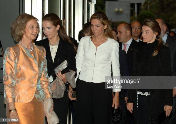Queen Sofia Elena of Spain Cristina of Spain and Princess Letizia