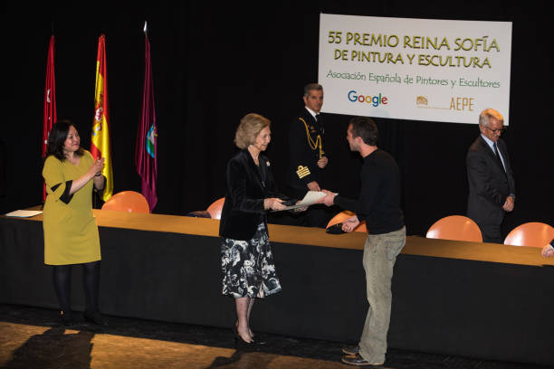 ESP: Queen Sofia Attends Sculpture And Painting Competition