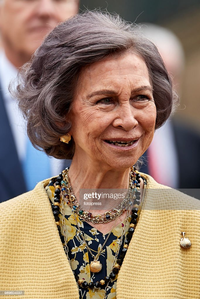 Queen Sofia Inaugurates The Conservation And Restoration Project Of The Arcade Of Santiago's Cathedral