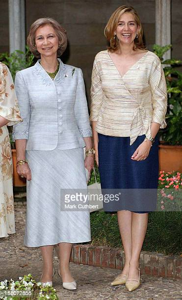 Queen Sofia Infanta Cristina Of Spain Attend The Christening Of Princess Alexia Of Greece Carlos Morales Quintana'S Daughter Arrietta In Barcelona