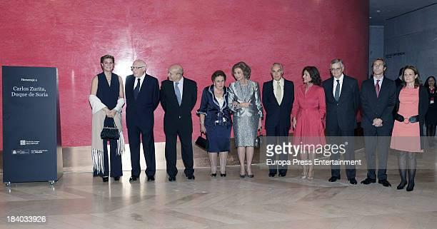 Queen Sofia of Spain Alfonso Zurita Princess Margarita of Spain Ana Botella and Maria Zurita attends a homage to Princess Margarita's husband Carlos...
