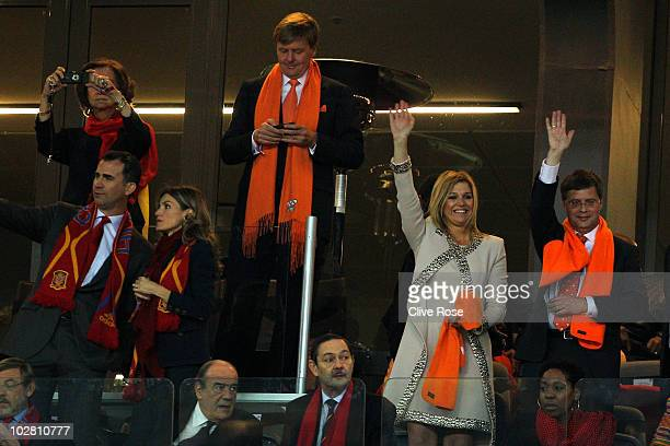 Queen Sofia of Spain and Crown Prince Willem Alexander of the Netherlands Felipe Prince of Asturias Letizia Princess of Asturias Crown Princess...