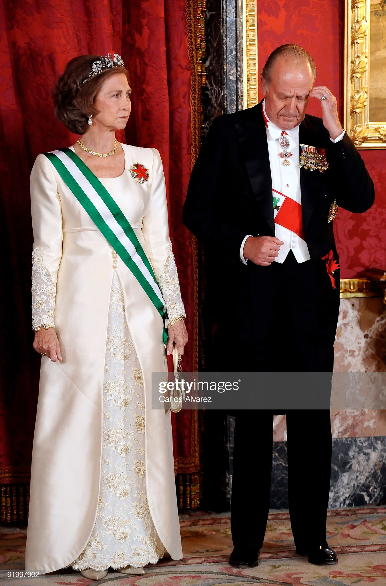 Spanish Royals Host Gala Dinner with Michel Suleiman, President of Lebanon : News Photo