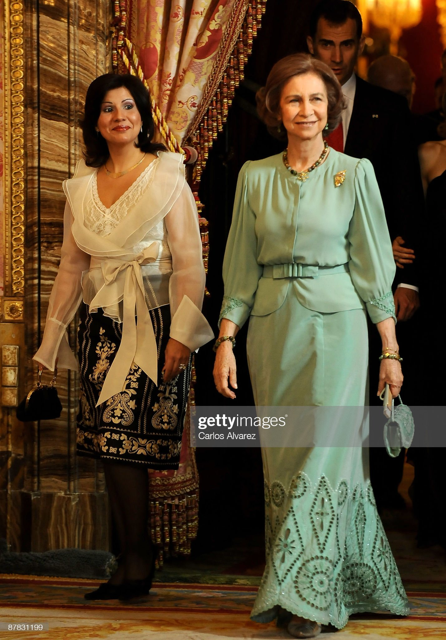 Spanish Royals Host Gala Dinner Honouring Dominican Republic President : News Photo