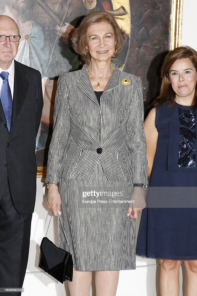 Queen Sofia of Spain Attends Painting Exhibition Opening at Royal Palace