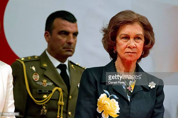 Queen Sofia of Spain attend 'Red Cross World Day' Event on May 8 2013 in Malaga Spain
