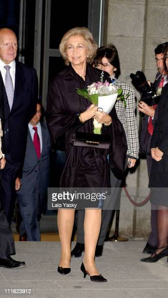 Queen Sofia of Spain attends a benefit opera gala for the Queen Sofia Foundation and Alzheimer's Disease