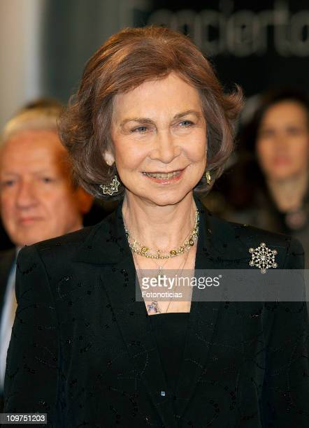 Queen Sofia of Spain attends a concert honouring terrorism victims at the Auditorio Nacional on March 3 2011 in Madrid Spain