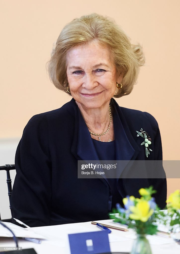 Queen Sofia Visits The Superior School Of Music 'Reina Sofia' In Madrid : News Photo