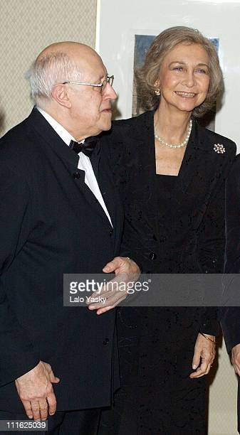 Queen Sofia of Spain attends a Mstislav Rostropovich concert in central Madrid