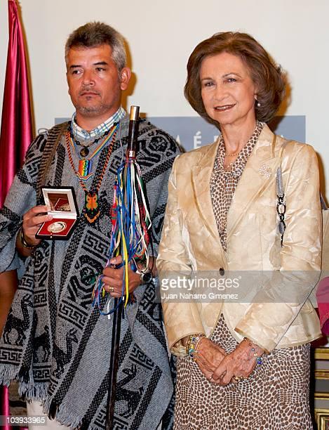 Queen Sofia of Spain attends 'Bartolome de las Casas' award at Casa de America on September 9 2010 in Madrid Spain