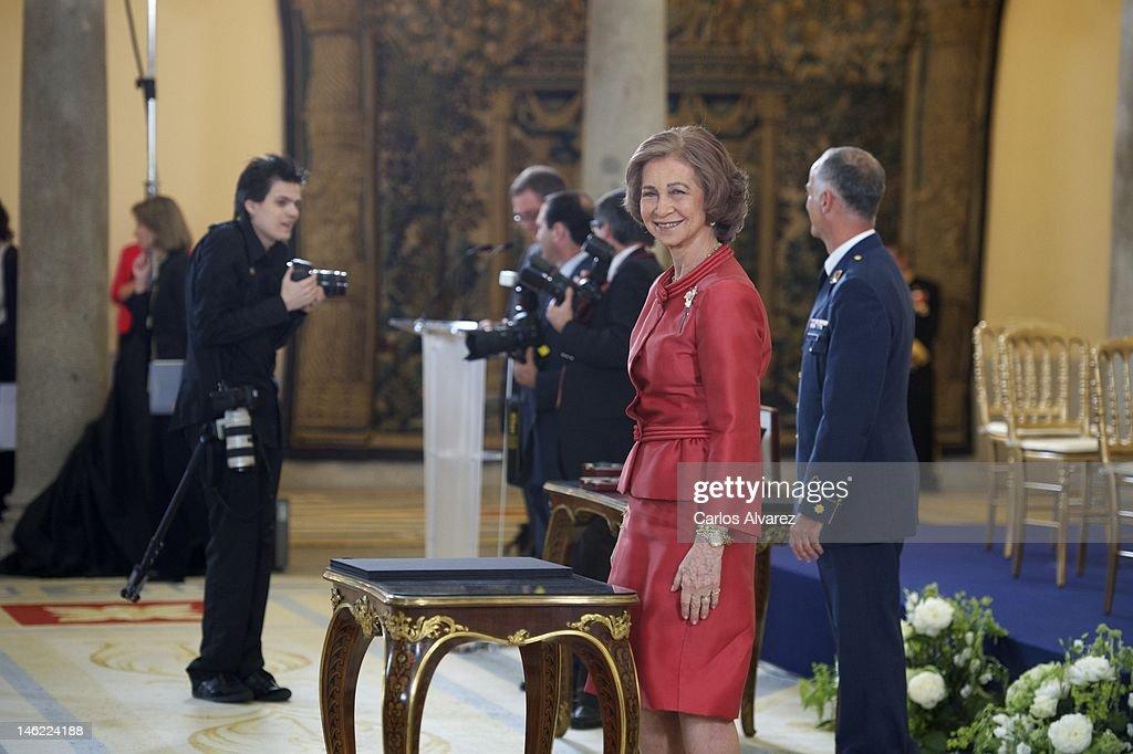 Queen Sofia of Spain Attends Closing Ceremony of the Academic Year of 'Escuela Superior de Musica Reina Sofia'